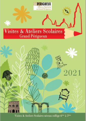 Couverture brochure visites et ateliers collèges 2021
