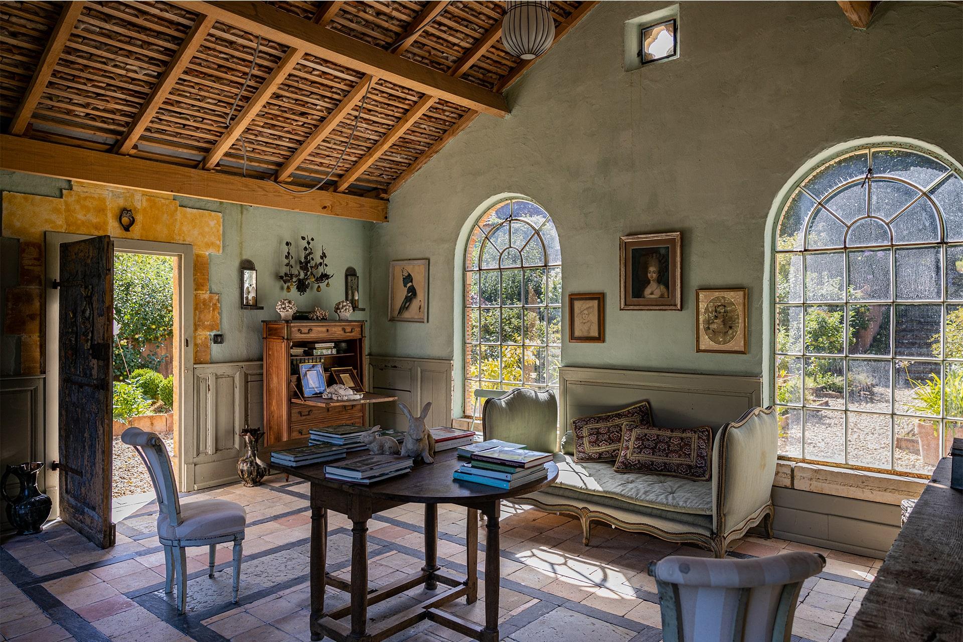 Photo d'intérieur des Jardins de la Chartreuse du Colombier à Paunat