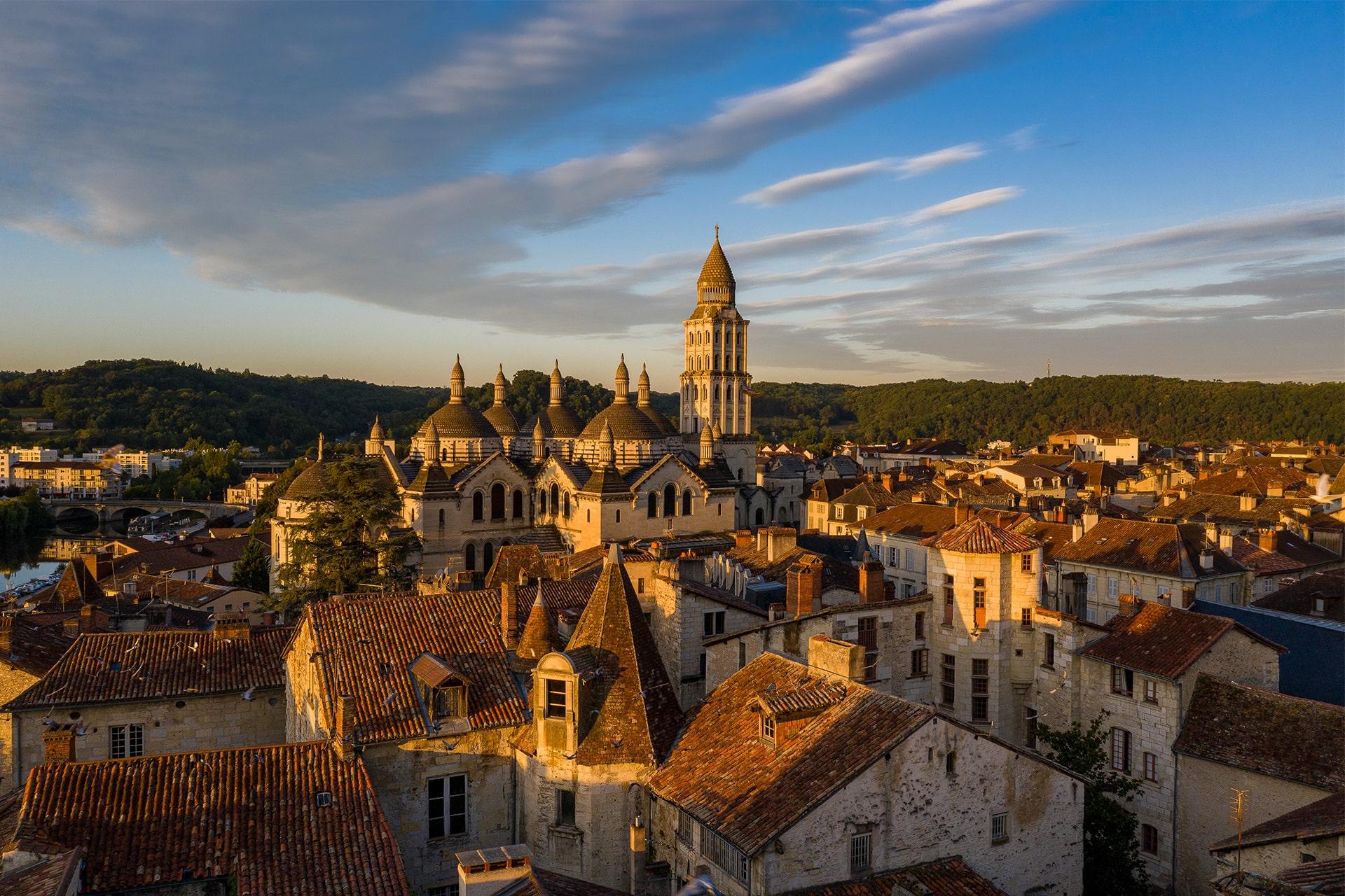 Vue sur le secteur sauvegardé et la Cathédrale Saint-Front de Périgueux