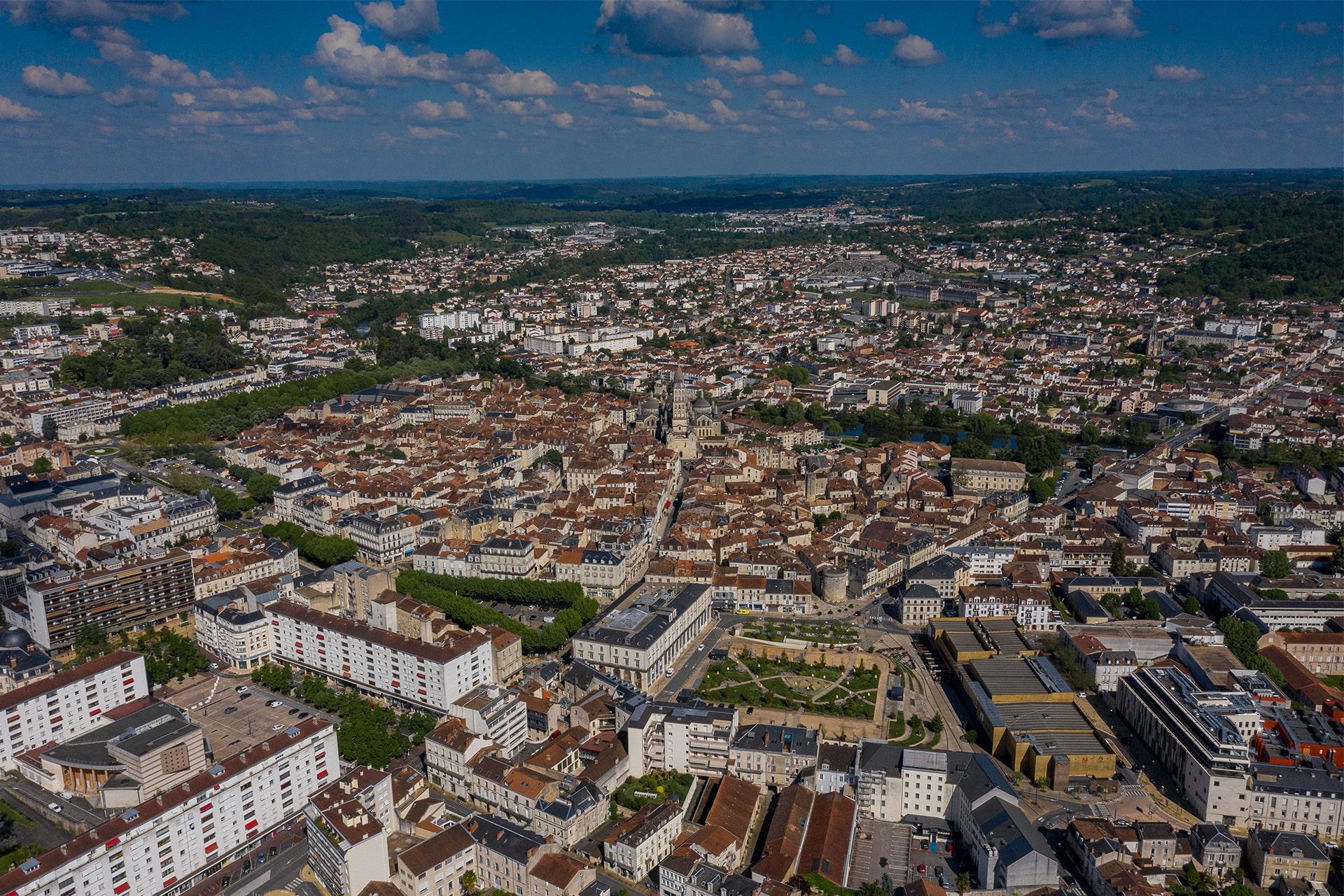 Vue sur Périgueux et son agglomération